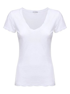 James Perse Sheer jersey v neck t-shirt
