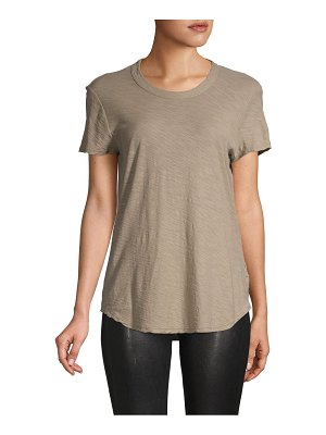 James Perse Short-Sleeve Cotton High-Low Tee
