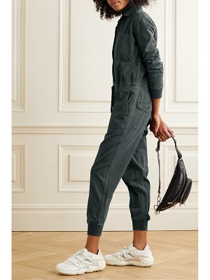 James Perse stretch-cotton twill jumpsuit