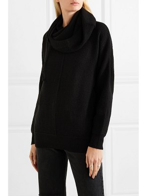 James Perse waffle-knit cashmere hoodie