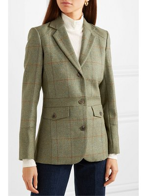 Purdey checked wool-tweed blazer
