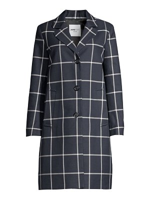 JANE POST check boyfriend coat