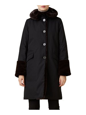JANE POST faux fur-lined storm coat