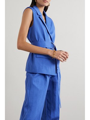 Jason Wu belted cotton-blend vest