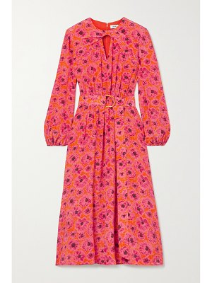 Jason Wu belted floral-print crepon midi dress