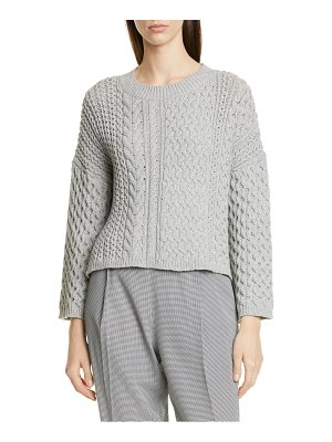 Jason Wu cable knit cotton blend sweater
