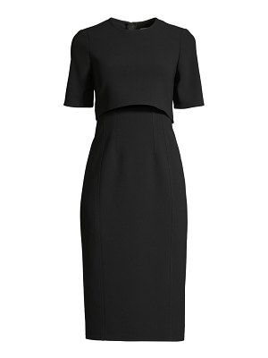 Jason Wu Collection compact crepe short sleeve day dress