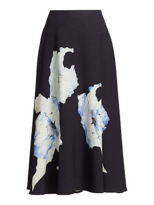 Jason Wu Collection floral knit a-line midi skirt