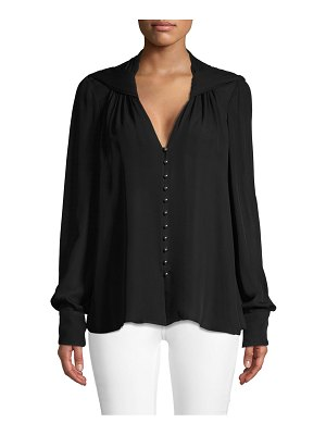 Jason Wu Collection Long-Sleeve Silk Button-Down Shirt