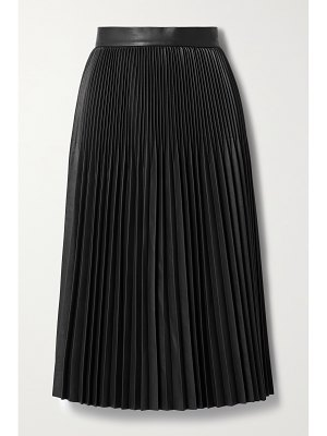 Jason Wu Collection pleated faux leather midi skirt