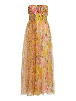 Jason Wu Collection printed tulle strapless gown