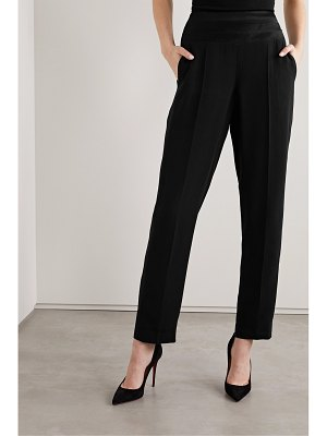Jason Wu Collection satin-trimmed crepe tapered pants