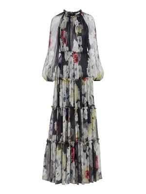 Jason Wu Collection small peony printed crinkle chiffon gown