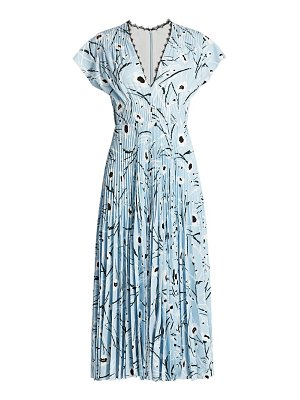Jason Wu Collection stem floral crepe midi dress