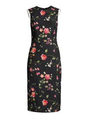 Jason Wu Collection vine floral stretch crepe sheath dress