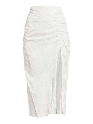 Jason Wu Collection washed sateen ruched skirt