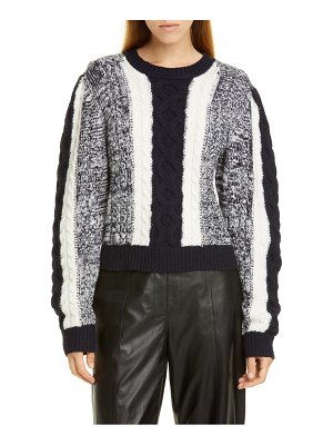 Jason Wu colorblock cable sweater