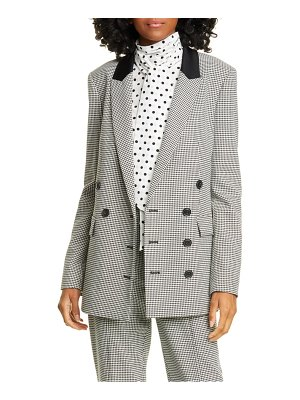 Jason Wu double breasted houndstooth blazer