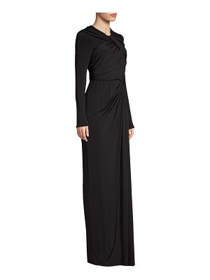 Jason Wu draped jersey long sleeve gown