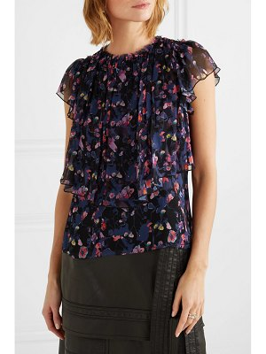 Jason Wu Collection floral-print silk-crepon top