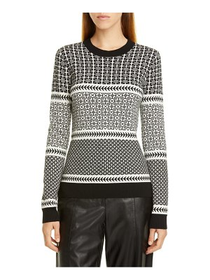 Jason Wu graphic fair isle sweater