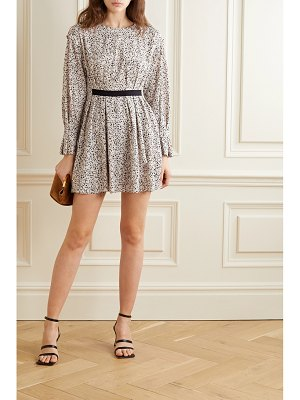 Jason Wu grosgrain-trimmed floral-print crepe mini dress