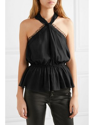 Jason Wu Collection lace-trimmed silk-chiffon halterneck top