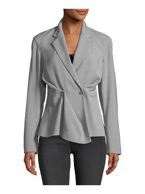 Jason Wu Notched-Collar Double-Breasted Wool-Blend Jacket