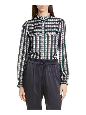 Jason Wu plaid ruffle blouse