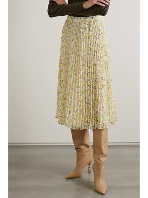 Jason Wu pleated printed georgette midi skirt