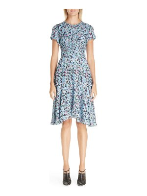 Jason Wu Collection ruched floral print silk georgette dress