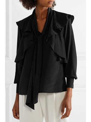 Jason Wu ruffled silk crepe de chine blouse