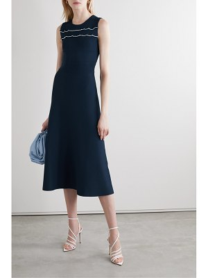Jason Wu ruffled stretch-knit midi dress