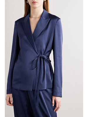 Jason Wu satin wrap blazer