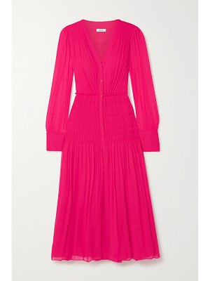 Jason Wu shirred silk-crepon midi dress