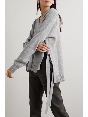 Jason Wu tie-detailed wool and cashmere-blend sweater