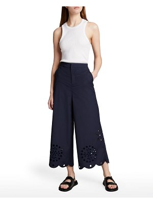 Jason Wu Wide-Leg Culottes with Eyelet Detail