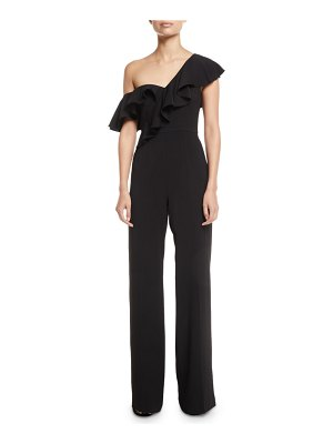Jay Godfrey Asymmetric 1-Shoulder Ruffle Jumpsuit