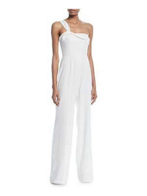 Jay Godfrey Belleville Crepe Jumpsuit w/ Twist Shoulder