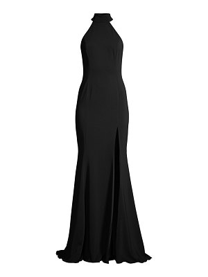 Jay Godfrey cameo halter slit gown