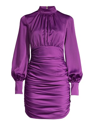 Jay Godfrey como ruched satin mini dress