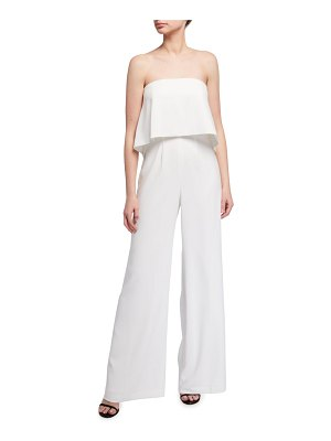 Jay Godfrey Moore Strapless Popover Bodice Stretch Crepe Jumpsuit