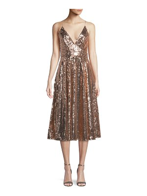 Jay Godfrey Sequin Midi Cocktail Dress w/ Full Skirt