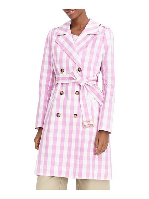 J.Crew 2011 icon oversize gingham trench coat