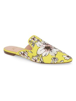J.Crew brocade pointy toe slide