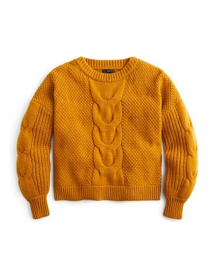 J.Crew cable knit balloon sleeve sweater