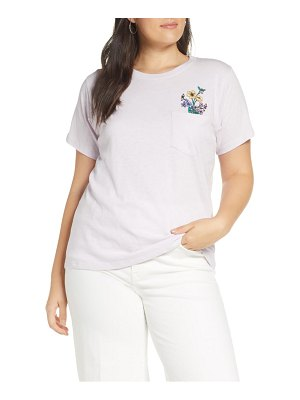 J.Crew crewneck tee with botanical embroidery