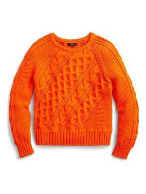 J.Crew diagonal cable knit sweater