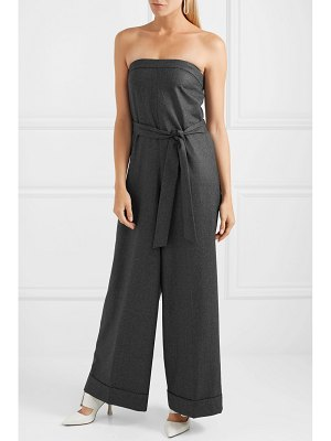 J.Crew draft strapless belted wool jumpsuit