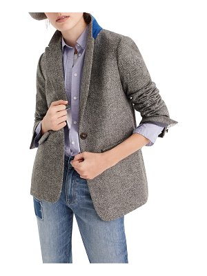 J.Crew english herringbone oversize wool blazer